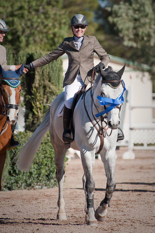 Congrats are offered to Michelle Parker and Socrates on their first Grand Prix win together